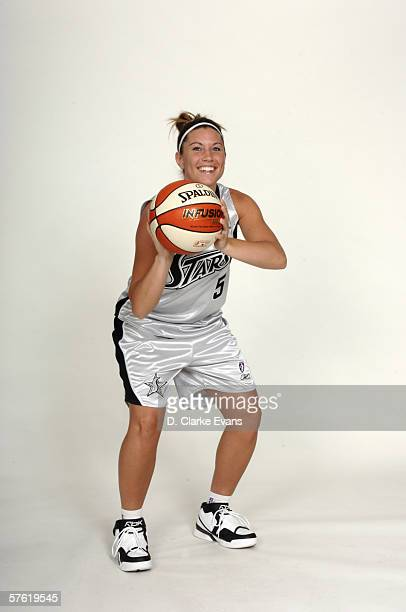 Shanna Zolman of the San Antonio Silver Stars poses during WNBA media day portraits at the Stars practice facility on May 1 2006 in San Antonio Texas...