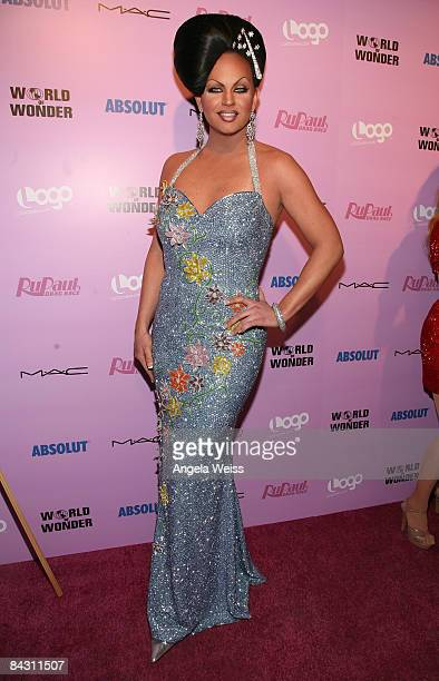 Shannel arrives to the opening night gala of 'Ru Paul's Drag Race' Art Show at the World of Wonder Storefront Gallery on January 15 2009 in Los...