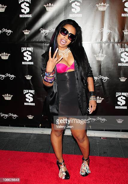 Shannell Woods arrives at Lil Wayne Welcome Home Party hosted By Cash Money Records on November 7 2010 in Miami Florida