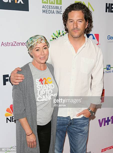 Shannen Doherty and Kurt Iswarienko attend Hollywood Unites for the 5th Biennial Stand Up To Cancer A Program of The Entertainment Industry...