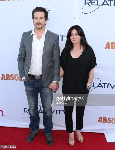 Shannen Doherty and Kurt Iswarienko attend the Pathway To The Cures For Breast Cancer A Fundraiser Benefiting Susan G Komen on June 11 2014 held at...