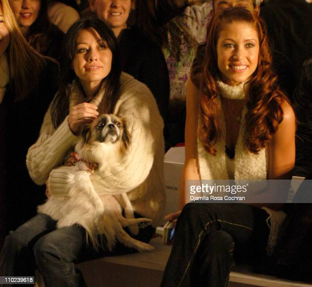 Shannen Doherty and Shannon Elizabeth during Olympus Fashion Week Fall 2005 Target Doggie Fashion Show Front Row at Bryant Park in New York City New...