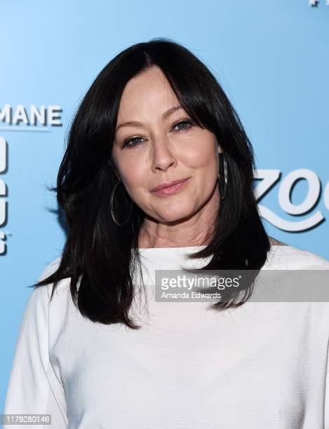 Shannen Doherty arrives at the 9th Annual American Humane Hero Dog Awards at The Beverly Hilton Hotel on October 05 2019 in Beverly Hills California