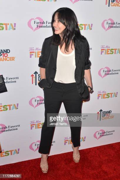 Shannen Doherty arrives at The Farrah Fawcett Foundation's TexMex Fiesta at Wallis Annenberg Center for the Performing Arts on September 06 2019 in...