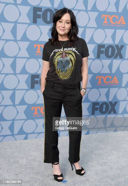 Shannen Doherty arrives at the FOX Summer TCA 2019 AllStar Party at Fox Studios on August 7 2019 in Los Angeles California