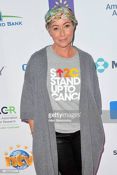 Shannen Doherty arrives at the Hollywood Unites for the 5th Biennial Stand up to Cancer A Program Of The Entertainment Industry Foundation at Walt...