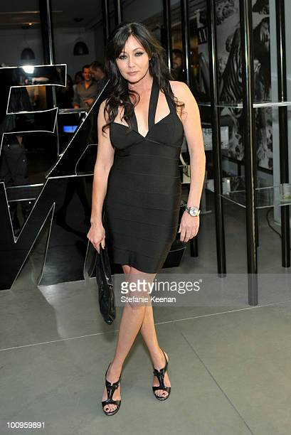 Shannen Doherty attends A/X and Elle Night of Disco Glam Hosted by Joe Zee on May 25 2010 in West Hollywood California
