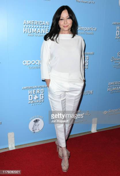 Shannen Doherty attends the 9th Annual American Humane Hero Dog Awards at The Beverly Hilton Hotel on October 05 2019 in Beverly Hills California