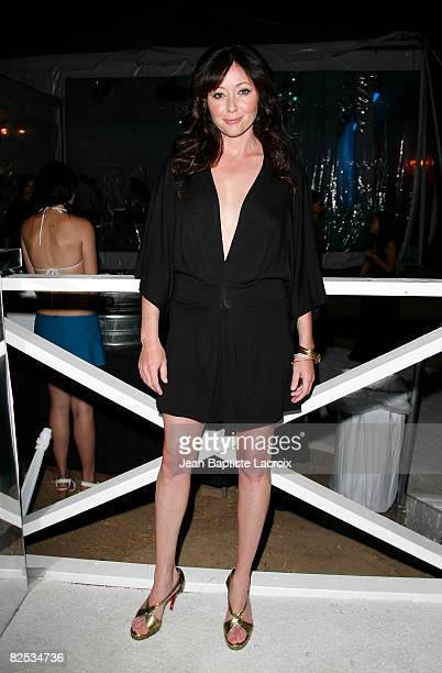 Shannen Doherty attends the CW Network's 90210 Premiere Party on August 23, 2008 in Malibu, California.
