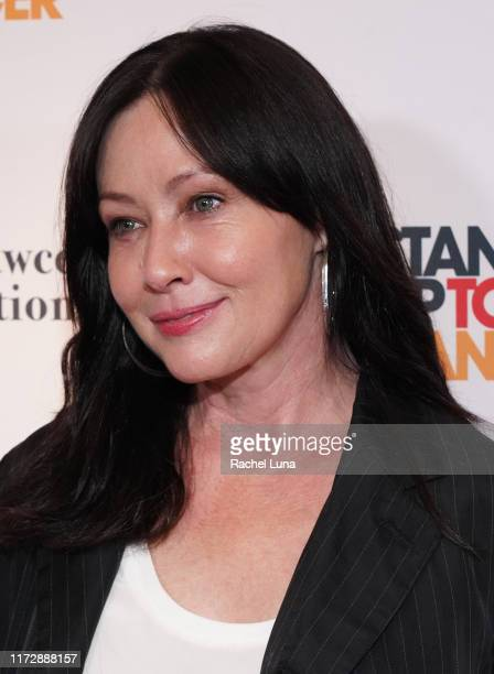 Shannen Doherty attends the Farrah Fawcett Foundation's TexMex Fiesta at Wallis Annenberg Center for the Performing Arts on September 06 2019 in...