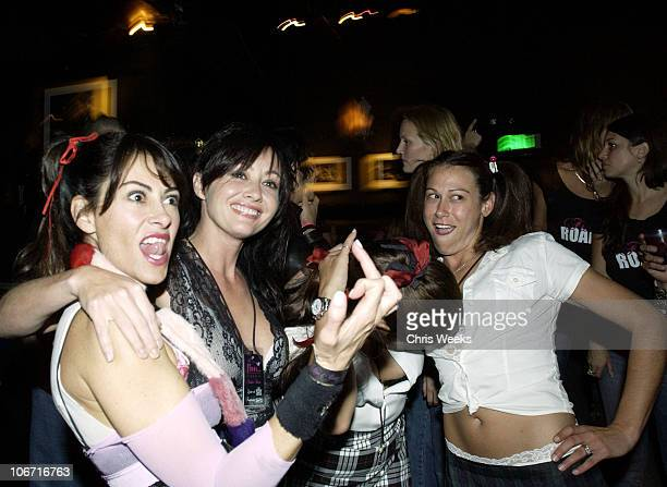 Shannen Doherty during 2003 Fashion Week Los Angeles Floosie Lingerie Backstage and Show at The Roxy in West Hollywood California United States