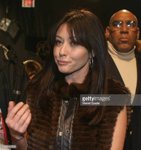 Shannen Doherty during Olympus Fashion Week Fall 2005 Sweetface by Jennifer Lopez and Andy Hilfiger Front Row at The Tent Bryant Park in New York...