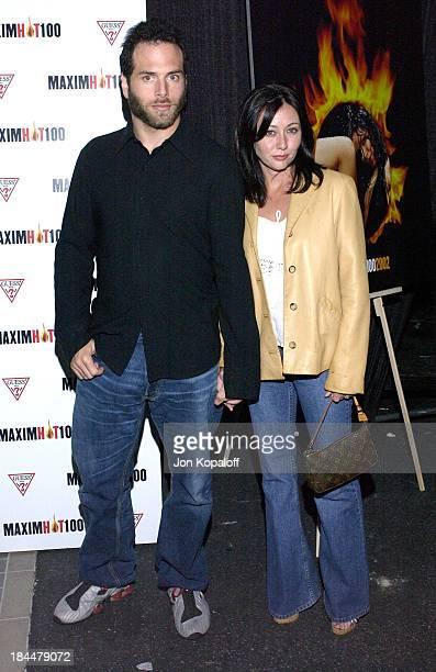 Shannen Doherty husband Rick Salomon during Maxim Hot 100 Party Arrivals at Yamashiro in Hollywood California United States
