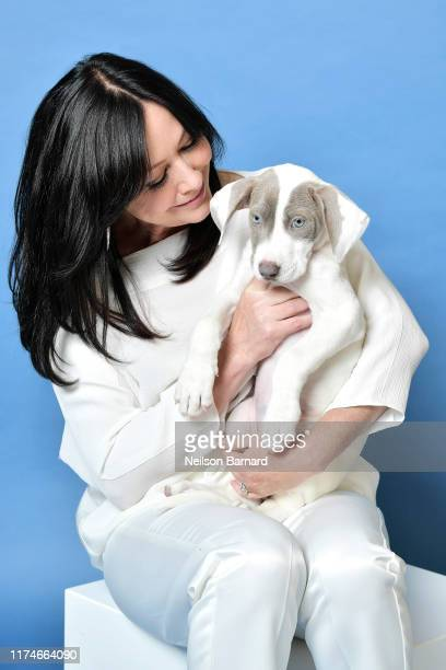 Shannen Doherty poses for a portrait in the Getty Images People Magazine Portrait Studio at Hallmark Channel and American Humanes 2019 Hero Dog...