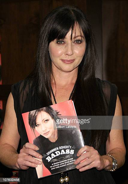 """Shannen Doherty signs copies of her new book """"Badass"""" at Barnes & Noble bookstore at The Grove on December 14, 2010 in Los Angeles, California."""