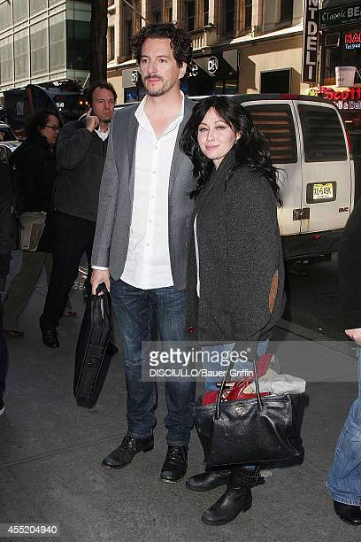 Shannen Doherty with husband Kurt Iswarienko are seen on April 03 2012 in New York City