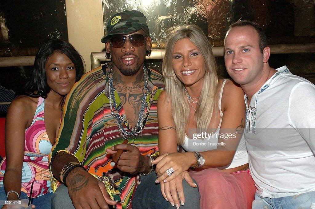 Dennis Rodman Celebrates Birthday at Rain in The Palms Hotel and Casino Resort : News Photo