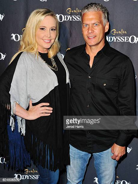 Shannon Beador and David Beador arrive at the Premiere Event of 'Odysseo By Cavalia' on November 19 2016 in Irvine California