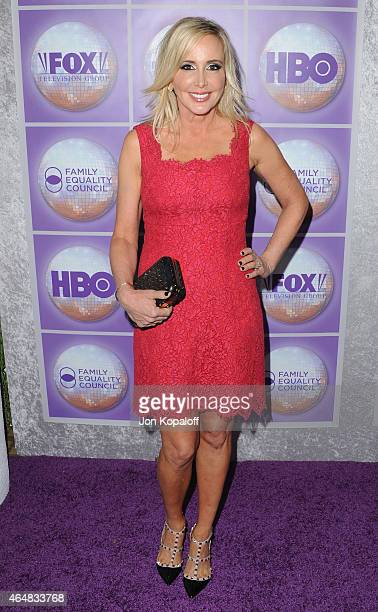 Shannon Beador arrives at the Family Equality Council's Los Angeles Awards Dinner at The Beverly Hilton Hotel on February 28 2015 in Beverly Hills...