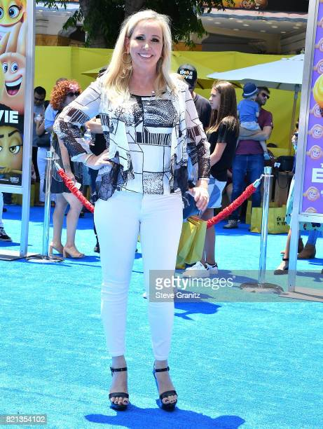 Shannon Beador arrives at the Premiere Of Columbia Pictures And Sony Pictures Animation's The Emoji Movie at Regency Village Theatre on July 23 2017...