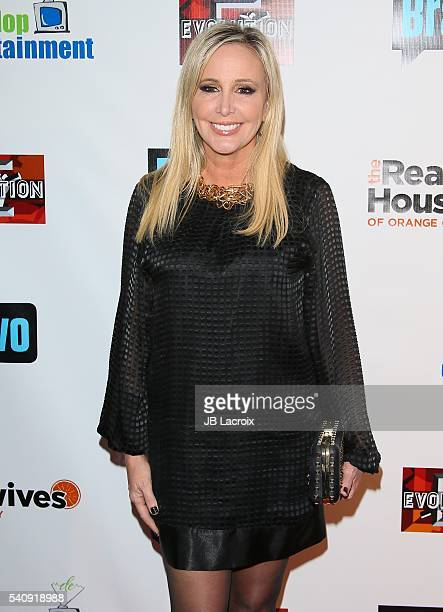 Shannon Beador attends the premiere party for Bravo's 'The Real Housewives of Orange County' 10 Year Celebration at Boulevard3 on June 16 2016 in...
