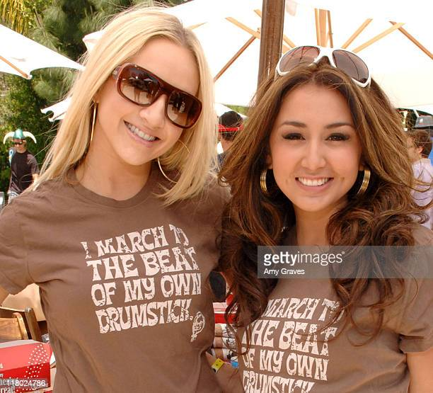 Shannon Bex and Aundrea Fimbres of Danity Kane during KFC Retro T's Promote Colonel Scholar's Program Day 1 at private residence in Los Angeles...