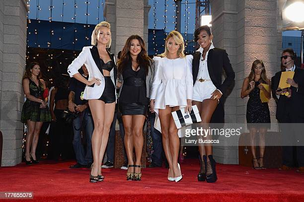 Shannon Bex Andrea Fimbres Aubrey O'Day and Dawn Richards of Danity Kane attend the 2013 MTV Video Music Awards at the Barclays Center on August 25...