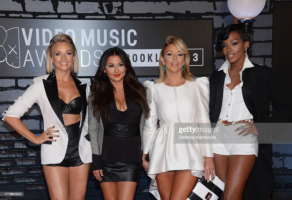 Shannon Bex, Andrea Fimbres, Aubrey O'Day and Dawn Richards of Danity Kane attend the 2013 MTV Video Music Awards at the Barclays Center on August 25, 2013 in the Brooklyn borough of New York City.