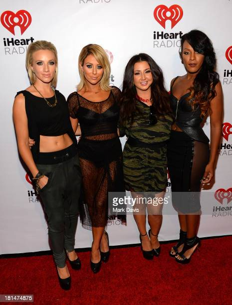 Shannon Bex Aubrey O'Day Andrea Fimbres and Dawn Richards of Danity Kane attend the iHeartRadio Music Festival Village on September 21 2013 in Las...