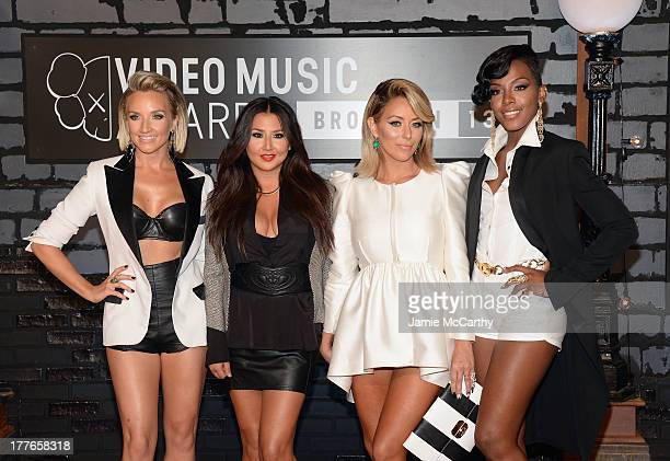 Shannon Bex Aundrea Fimbres Aubrey O'Day Dawn Richard of Danity Kane attend the 2013 MTV Video Music Awards at the Barclays Center on August 25 2013...