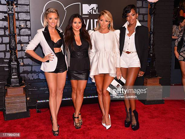 Shannon Bex Aundrea Fimbres Aubrey ODay Dawn Richard of Danity Kane attend the 2013 MTV Video Music Awards at the Barclays Center on August 25 2013...