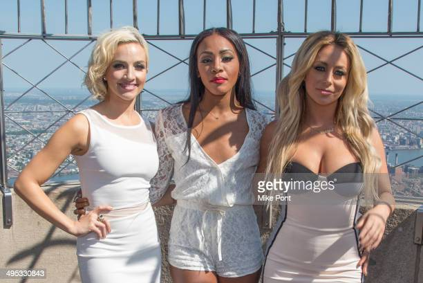 Shannon Bex Dawn Richard and Aubrey O' Day of Danity Kane visit the Empire State Building to celebrate the release of their new single Lemonade on...