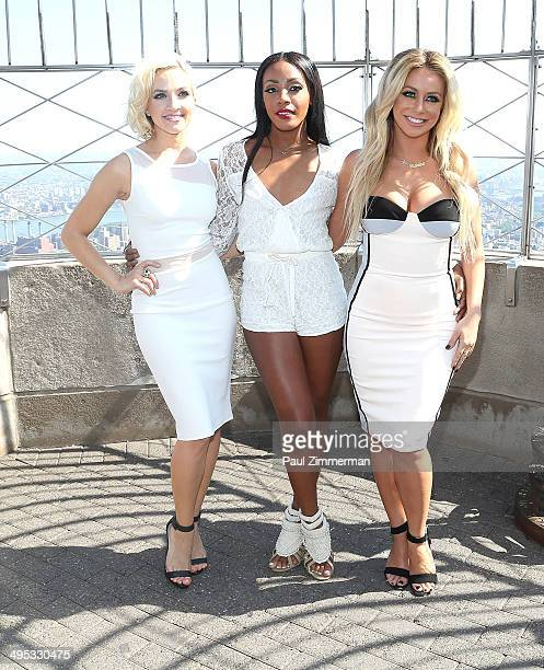 Shannon Bex Dawn Richard and Aubrey O'Day of band Danity Kane visit the Empire State Building to celebrate the release of their new single Lemonade...