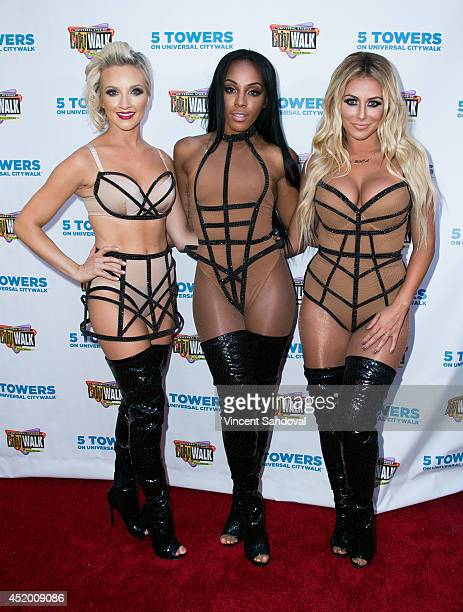 Shannon Bex Dawn Richard and Aubrey O'Day of Danity Kane attend Universal CityWalk's Music Spotlight Series at Universal CityWalk on July 10 2014 in...