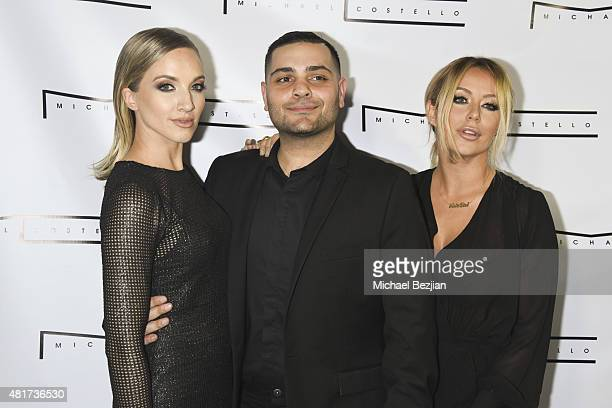 Shannon Bex Michael Costello and Aubrey O'Day arrive at Michael Costello and House of Borel Lunch with Stylepr on July 23 2015 in Los Angeles...
