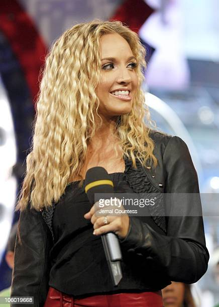 Shannon Bex of Danity Kane during Danity Kane and Yung Joc Visit MTV's TRL August 21 2006 at MTV Studios in New York City New York United States