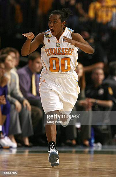 Shannon Bobbitt of the Tennessee Lady Volunteers reacts against the LSU Lady Tigers during their National Semifinal Game of the 2008 NCAA Women's...