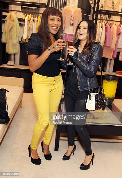 Shannon Bobo and Aphrodite Comello attend Coach x The Art Of Elysium Rodeo Drive Event on February 26 2015 in Beverly Hills California
