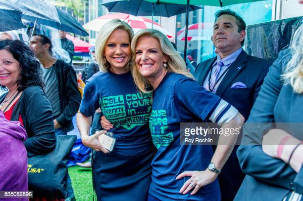 Shannon Bream and Janice Dean as Kenny Loggins performs on Fox Friends' AllAmerican Summer Concert Series at FOX Studios on August 18 2017 in New...