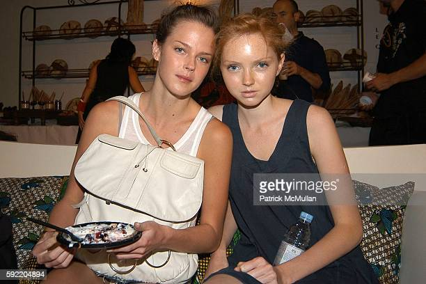 Shannon Click and Lily Cole attend Costello Tagliapietra Spring 2006 Collection at The Altman Building on September 11 2005 in New York City