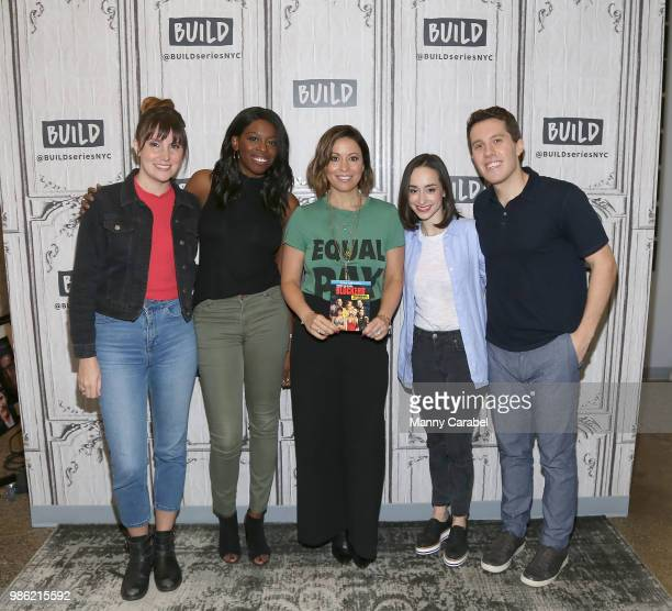 Shannon Coffey Bridget JonesCooper Kay Cannon Ali Kolbert and Lukas Thimm attend 'Build Brunch' at Build Studio on June 28 2018 in New York City