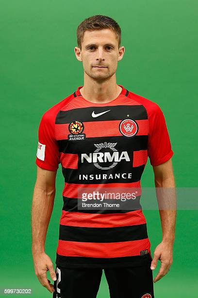 Shannon Cole poses during the Western Sydney Wanderers ALeague headshots session at Fox Studios on September 5 2016 in Sydney Australia
