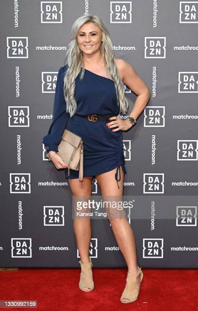 Shannon Courtenay attends the Dazn x Matchroom VIP Launch Event at Kings Cross on July 27, 2021 in London, England.