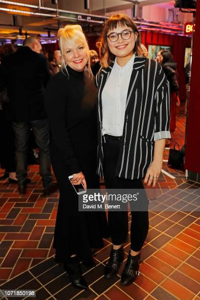Shannon Dill and Anna Bogutskaya attend the National Geographic Documentary Films London Premiere of Free Solo Party at BFI Southbank on December 11...