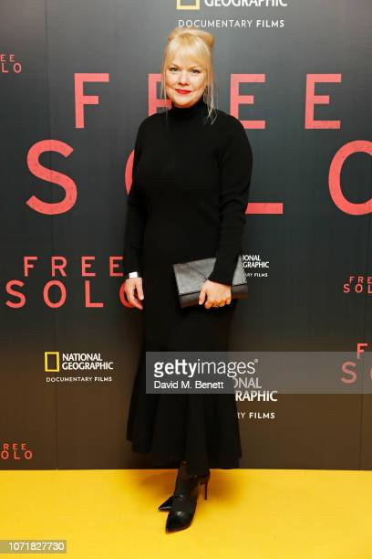 Shannon Dill attends the National Geographic Documentary Films London Premiere of Free Solo at BFI Southbank on December 11 2018 in London England...