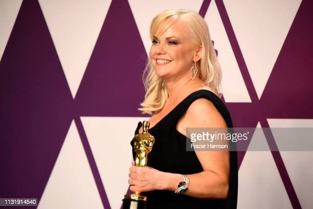 Shannon Dill winner of Best Documentary Feature for Free Solo poses in the press room during the 91st Annual Academy Awards at Hollywood and Highland...