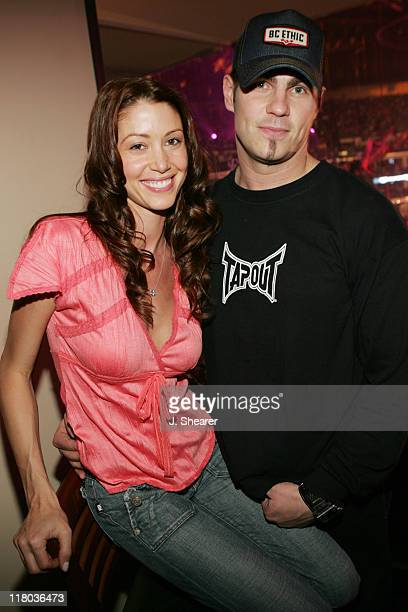 Shannon Elizabeth and Blake Mitchell during Celebrities at WWE WrestleMania 21 WrestleMania Goes Hollywood at Staples Center in Los Angeles...