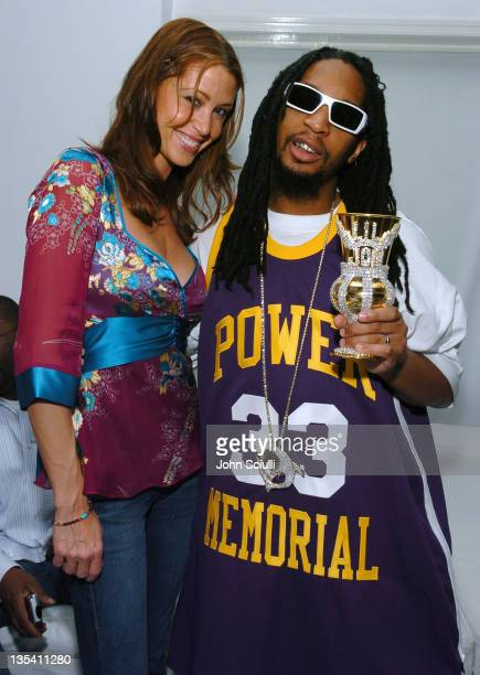 Shannon Elizabeth and Lil Jon during Oakley Thump 2 Launch Party October 12 2005 at Montmartre Lounge in Hollywood California United States