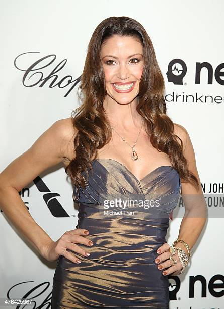 Shannon Elizabeth arrives at the 22nd Annual Elton John AIDS Foundation's Oscar viewing party held on March 2 2014 in West Hollywood California