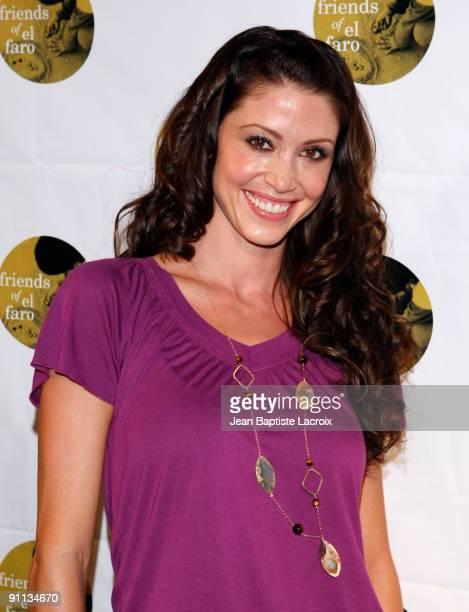 Shannon Elizabeth arrives at the 6th Annual Friends Of El Faro Event at Boulevard3 on September 24 2009 in Hollywood California